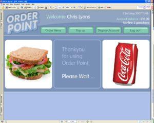 kiosk top level touch-screen menu